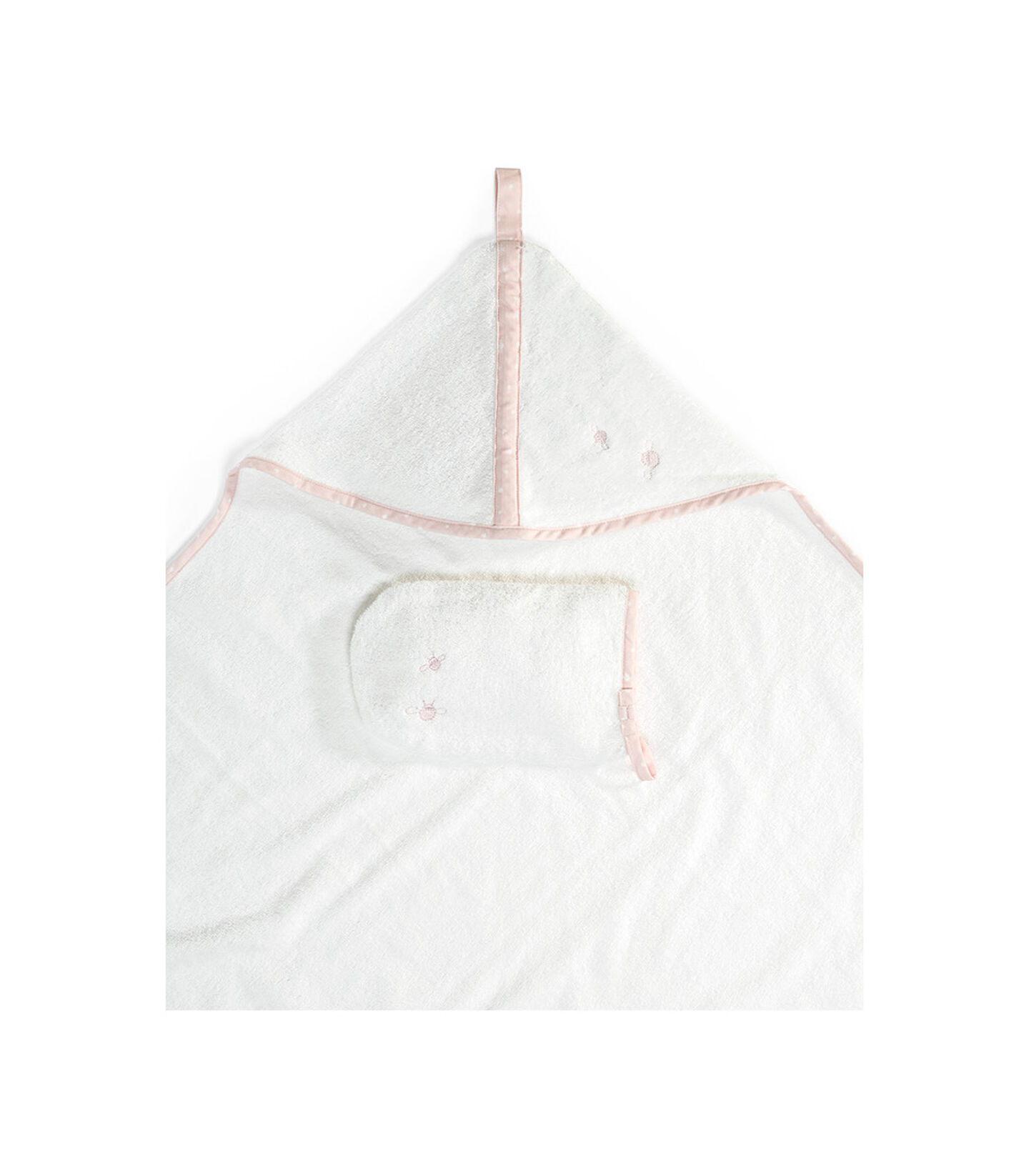 Stokke® Hooded Towel Pink Bee, Rose abeille, mainview view 2