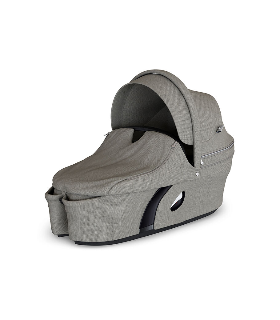 Stokke® Xplory® Carry Cot Brushed Grey. With Storm Cover. view 13