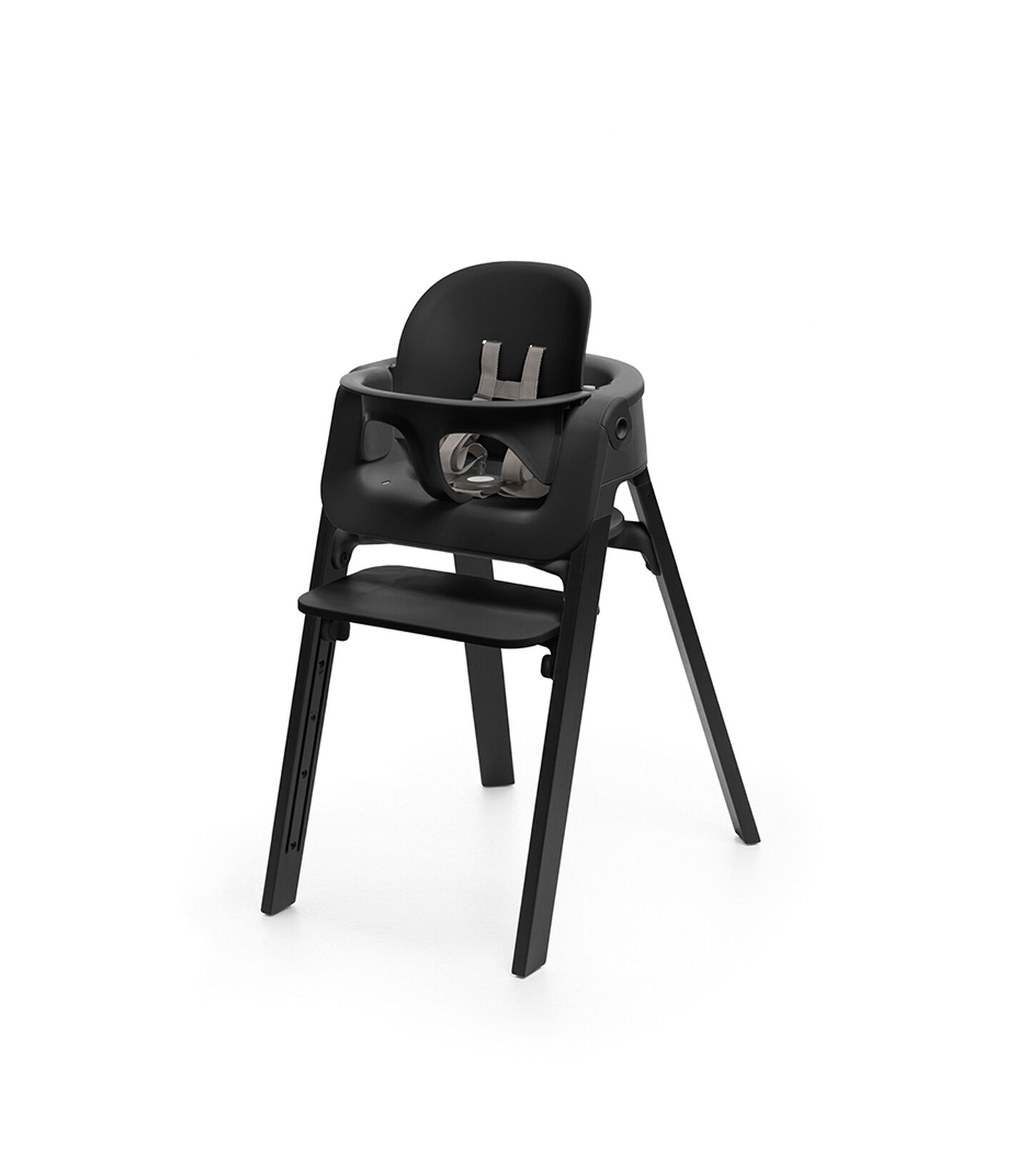 Stokke® Steps™ Oak Black with Baby Set Black.