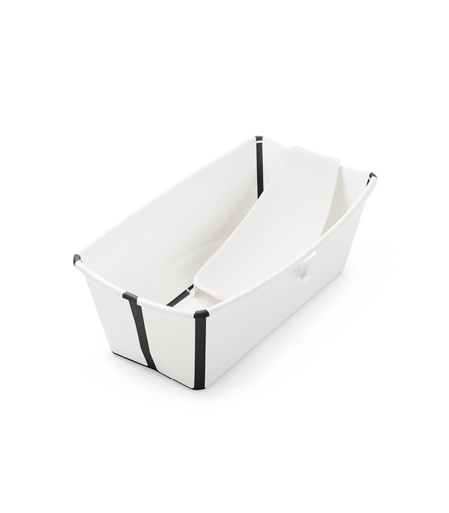 Stokke® Flexi Bath® bath tub, White Black Limited Edition, with Stokke® Flexi Bath® Newborn Support.