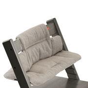 Tripp Trapp® Hazy Grey with Hazy Tweed cushion. Detail.