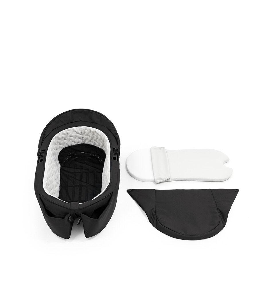 Stokke® Xplory® X Carry Cot Rich Black, Noir Profond, WhatsIncl view 1