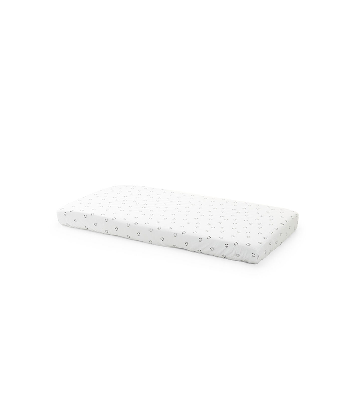 Stokke® Home™ Fitted Sheet. Monocrome Bear. view 1