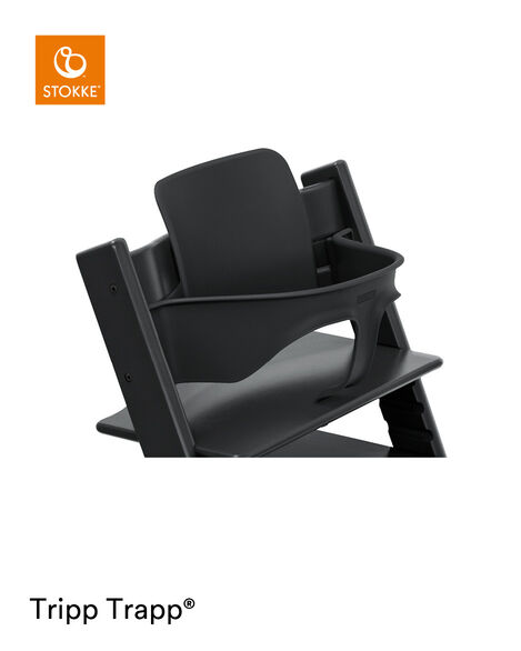Tripp Trapp® Chair Black with Baby Set. Close-up. view 5