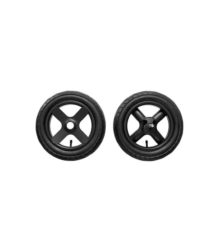 Stokke® Trailz™ Black Terrain Rear wheel complete set. Spare part.