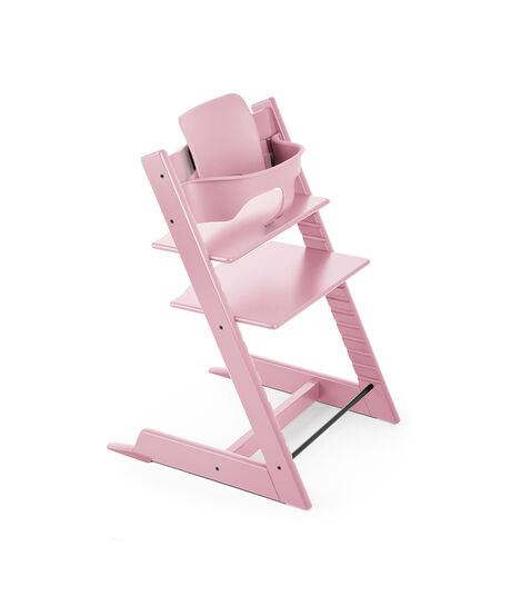 Tripp Trapp® Pink with Tripp Trapp® Baby Set, Pink.
