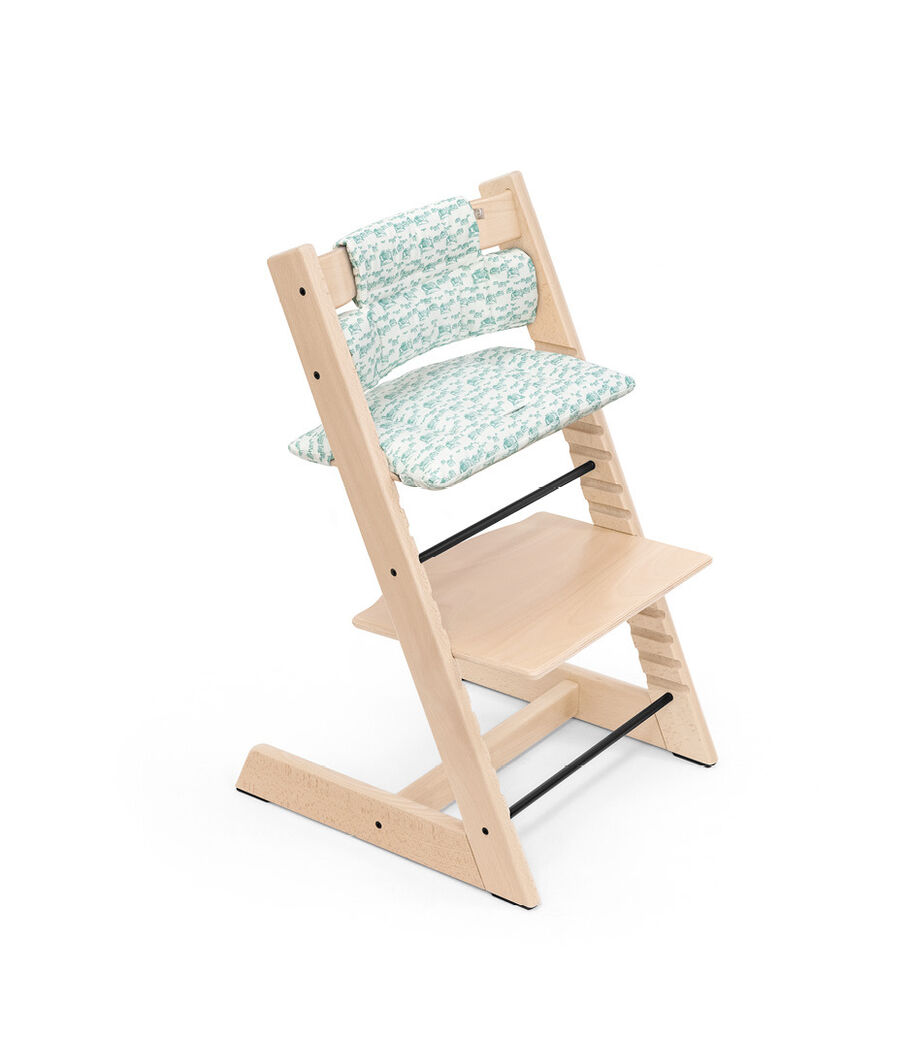 Tripp Trapp® Classic Cushion in Aqua Car pattern, for Japan only