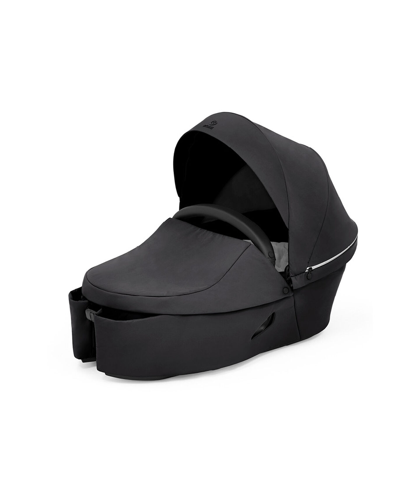 Stokke® Xplory® X Carry Cot Rich Black, Negro Sólido, mainview view 2