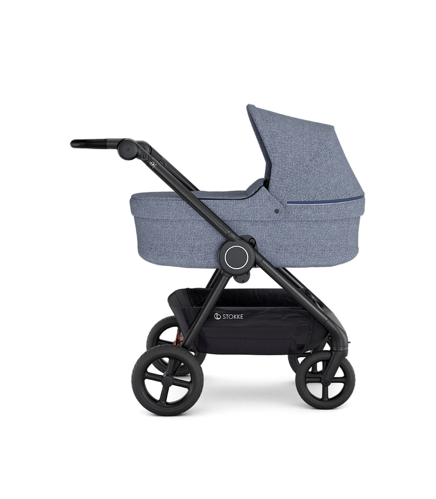 Stokke® Beat™ with Carry Cot, Blue Melange.