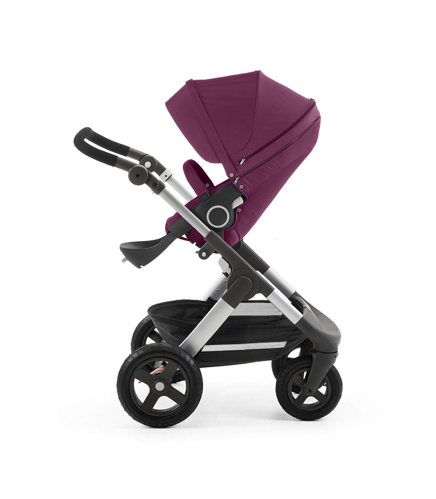 Chassis with Stokke® Stroller Seat, Purple.