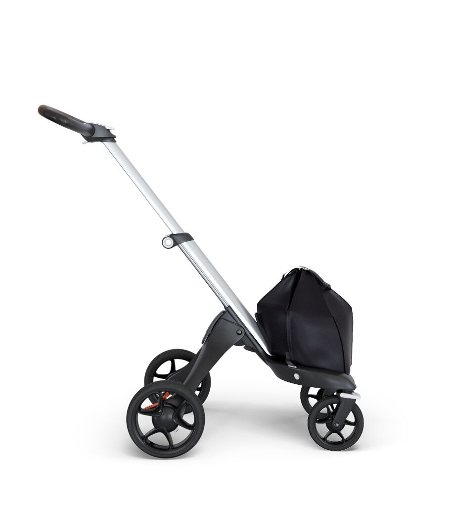 Stokke® Xplory® 6 Chassis Silver - Brown Handle, Brown, mainview