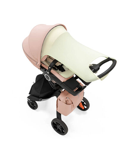 Stokke® Xplory® 6 Balance Limited Edition with Stokke® Stroller Seat. Soothing Pink. What's included: Seat textile, Seat Inlay, Sun Sail & Changing Bag. view 6
