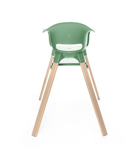 Stokke® Clikk™ High Chair. Natural Beech wood and Clover Green plastic parts. view 5