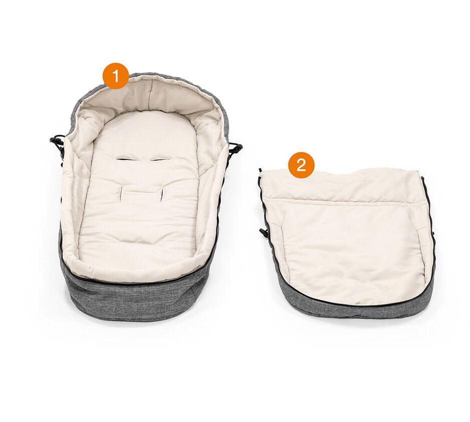 Stokke® Beat™ Soft Bag in Black Melange. What is included.