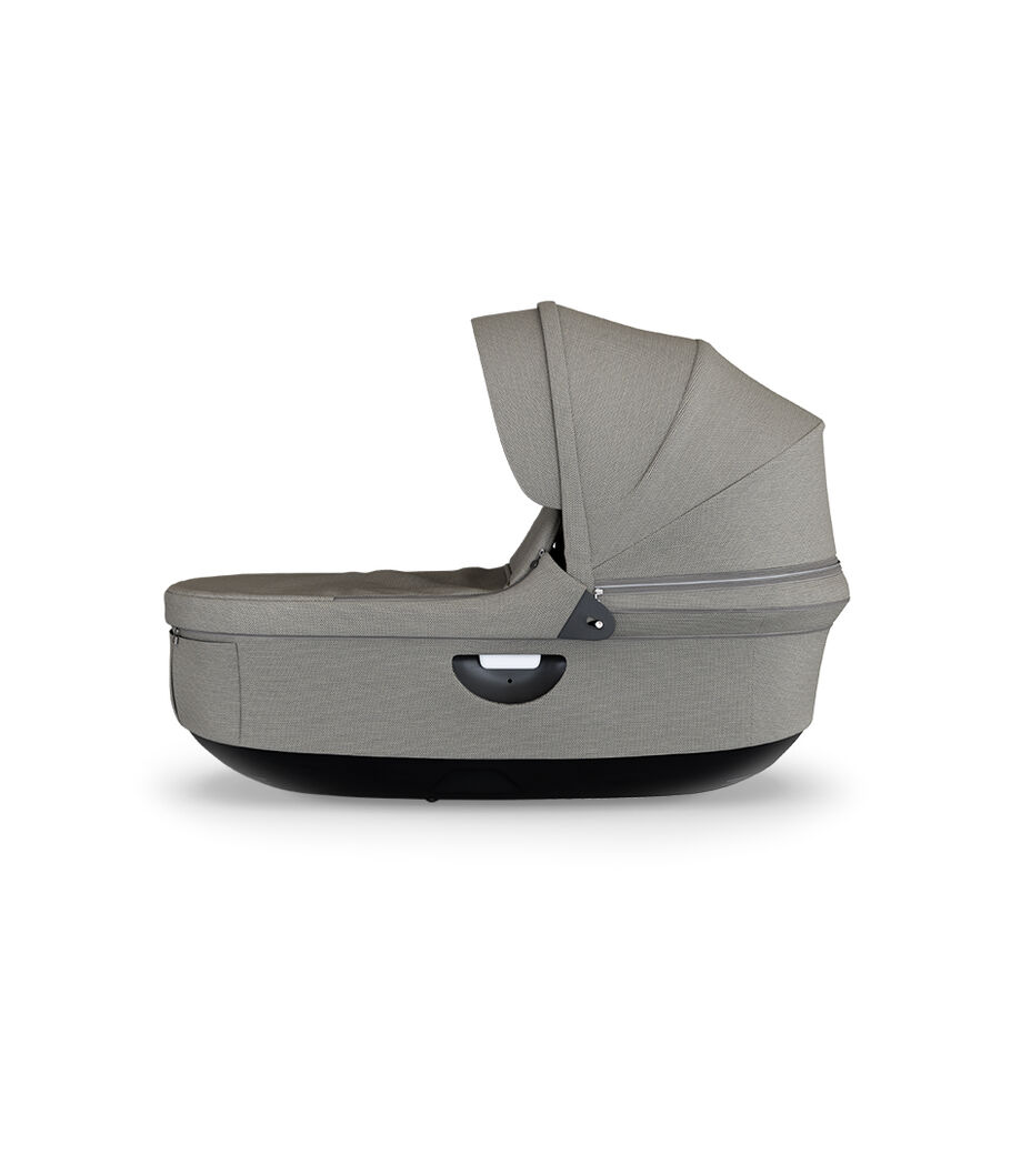 Strokke® Stroller Carry Cot, Brushed Grey.