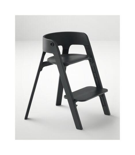 Stokke® Steps™ Beech Black wood legs and Black seat. view 7