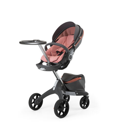 Stokke® Xplory® Silver Chassis and Seat. Athleisure Coral. view 4