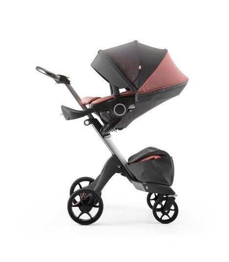 Stokke® Xplory® Silver Chassis and Seat. Athleisure Coral. view 3