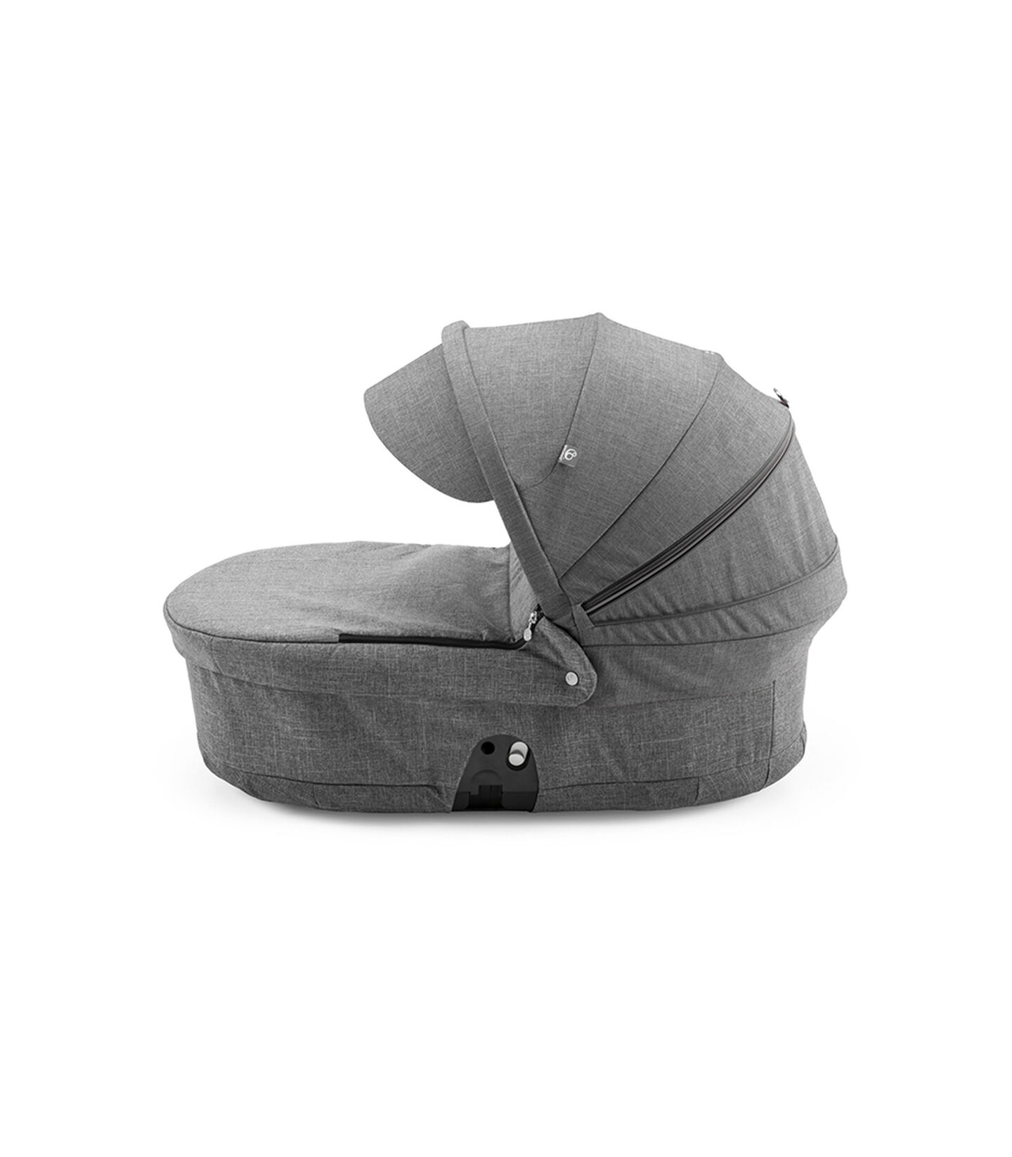 Stokke® Scoot™ Carry Cot, Black Melange, with Black Melange Canopy.