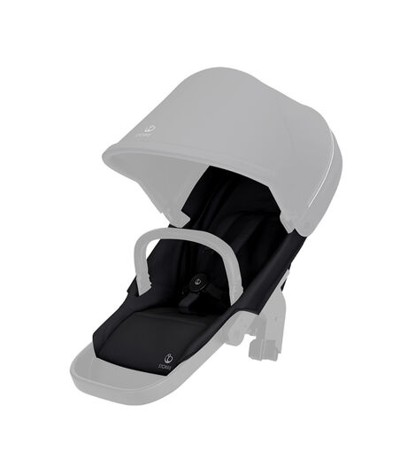 Stokke® Beat seat textile BlackMel wo Can Harness Shpg Baske, Negro Melange, mainview view 3