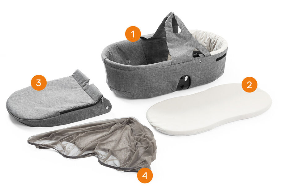 Stokke® Scoot™ Carry Cot. Item included.