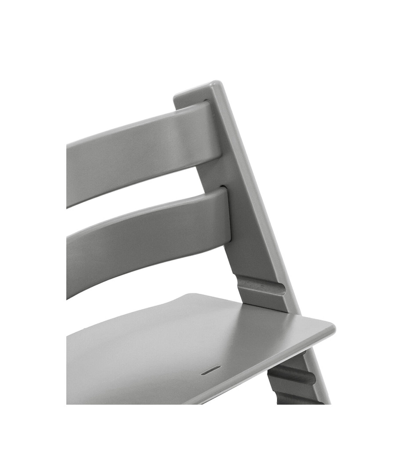 Tripp Trapp® Chair close up photo Storm Grey view 3