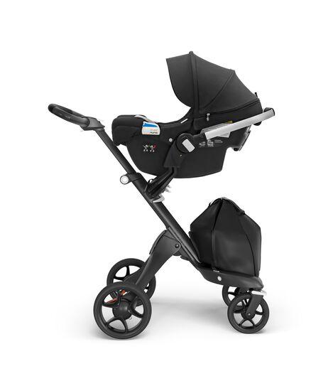 Stokke® PIPA™ By Nuna®, Black. Stokke® Xplory®, Black Chassis. US.