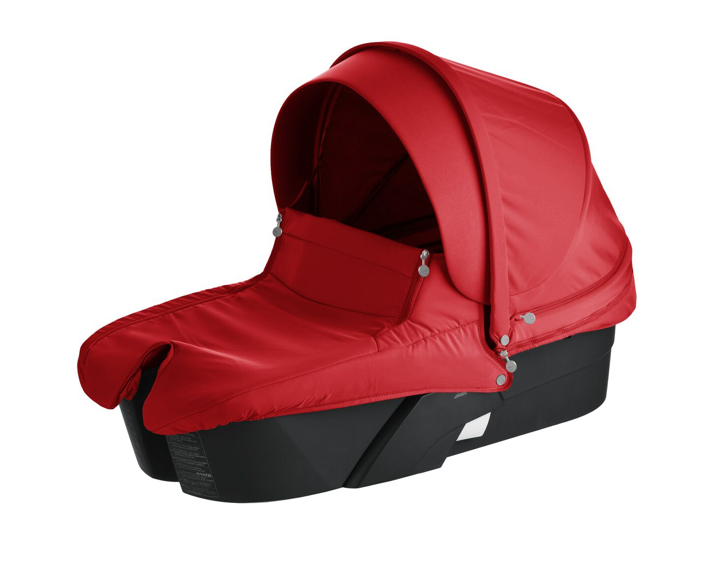 Stokke® Xplory® Carry Cot Black with Red Textile Set.