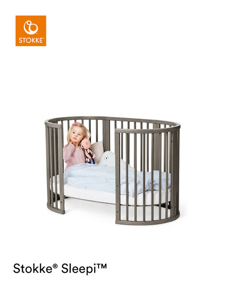 Stokke® Sleepi™ Extension Bed Hazy Grey, Grigio Opaco, mainview view 7