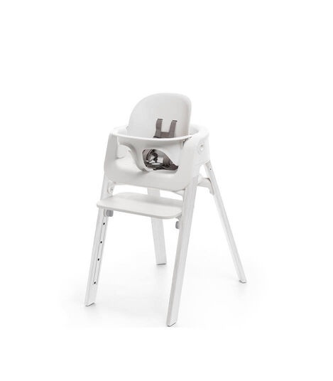 Stokke® Steps™ Oak White chair with Baby Set White.