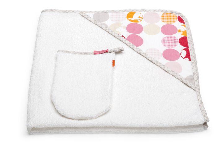 Hooded Towel, Silhouette Pink
