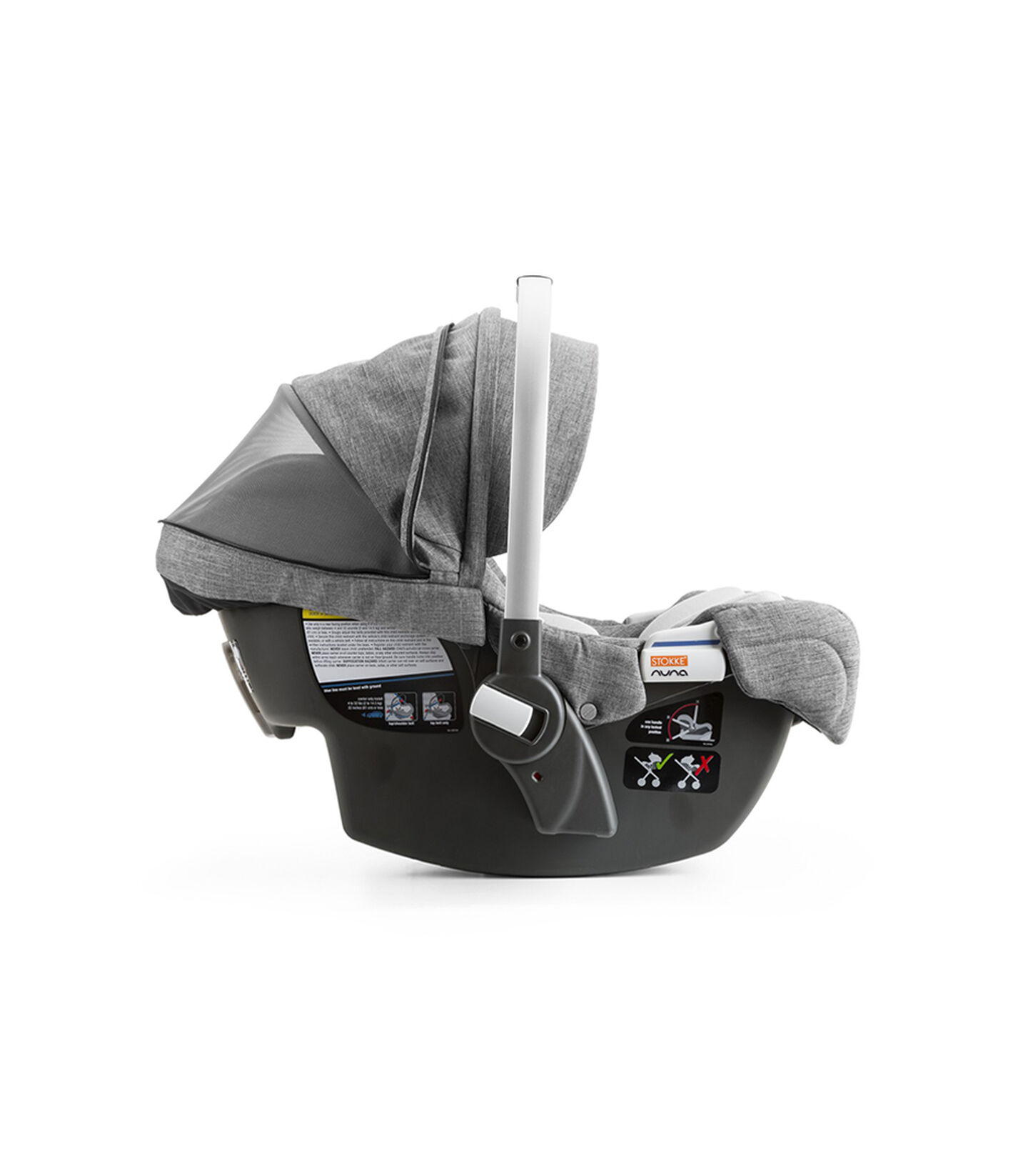 StokkeR PIPATM By NunaR Car Seat Black Melange Ventlation