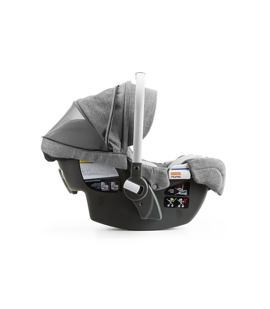 Stokke® PIPA™ By Nuna® car seat, Black Melange. Ventlation.