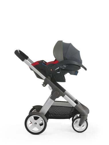 Stokke® iZi Go™ X1, Red and Stokke® Crusi™ chassis.