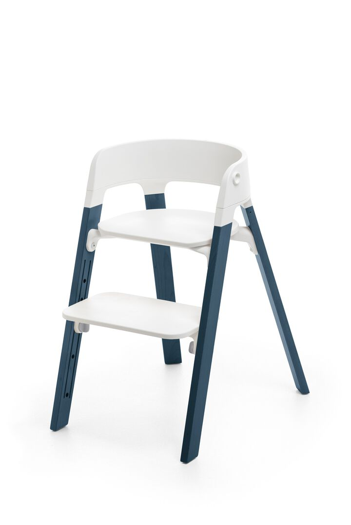 Stokke® Steps™ White Seat, Midnight Blue, mainview