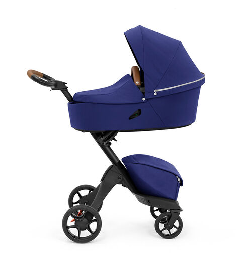 Stokke® Xplory® X Royal Blue Stroller with Carry Cot. view 2