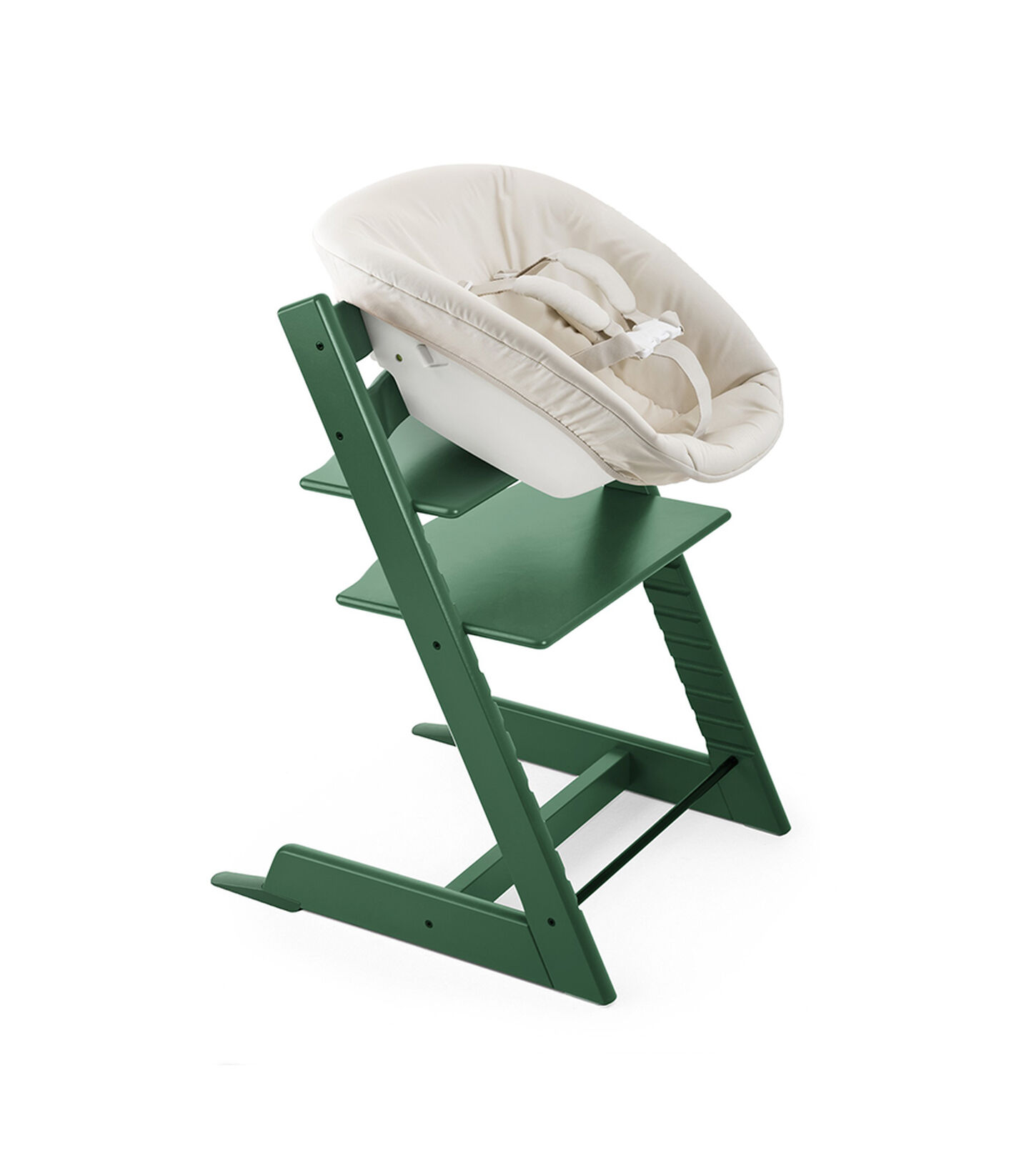 Tripp Trapp® Forest Green and Tripp Trapp® Newborn Set.