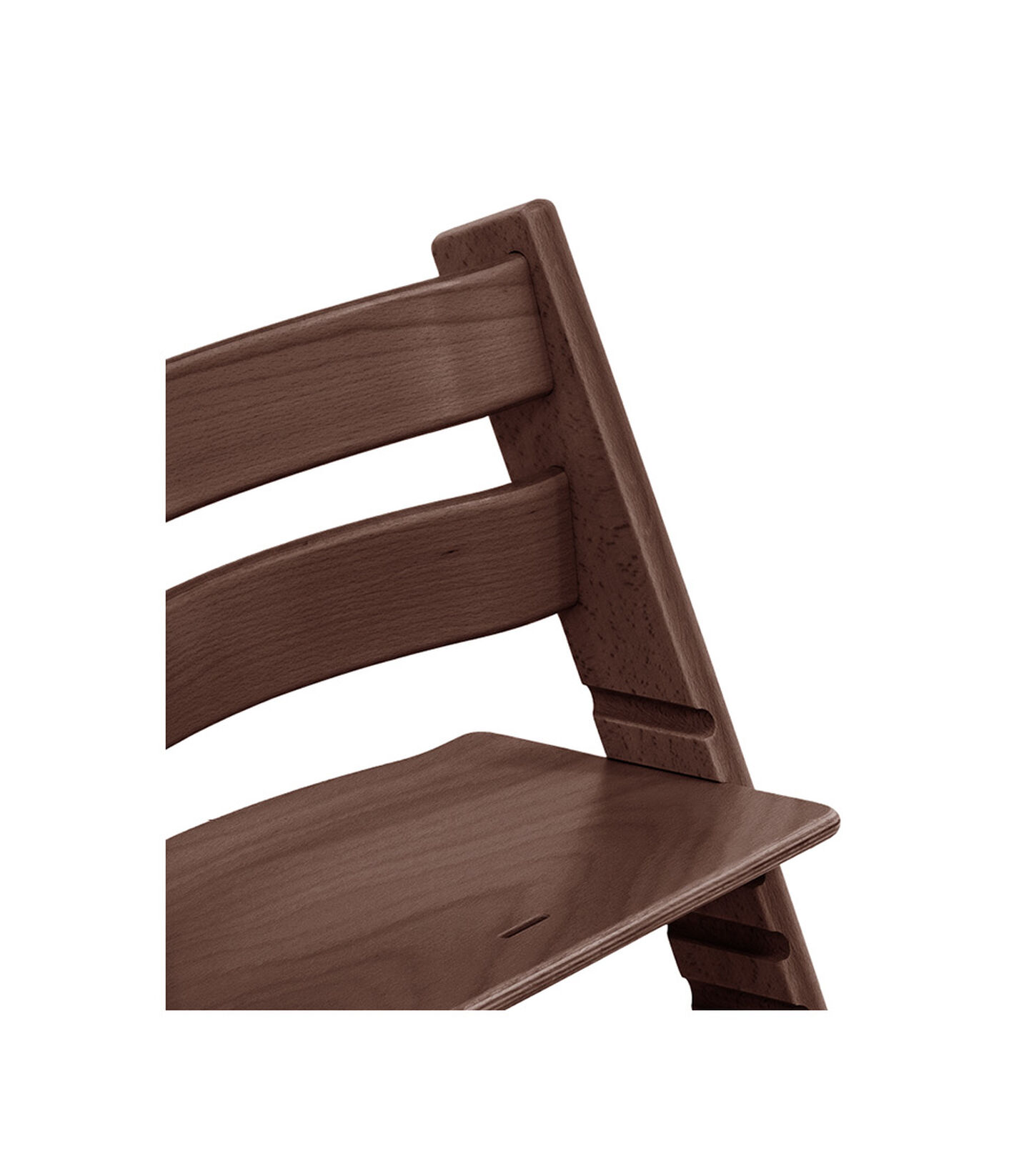 Tripp Trapp® Chair close up photo Walnut Brown view 3
