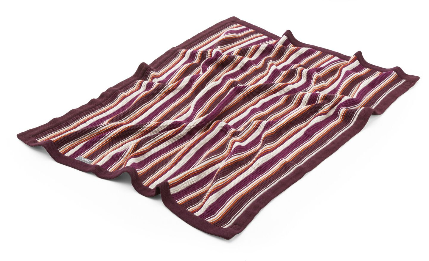 Stokke® Stroller Blanket, Purple & Orange.