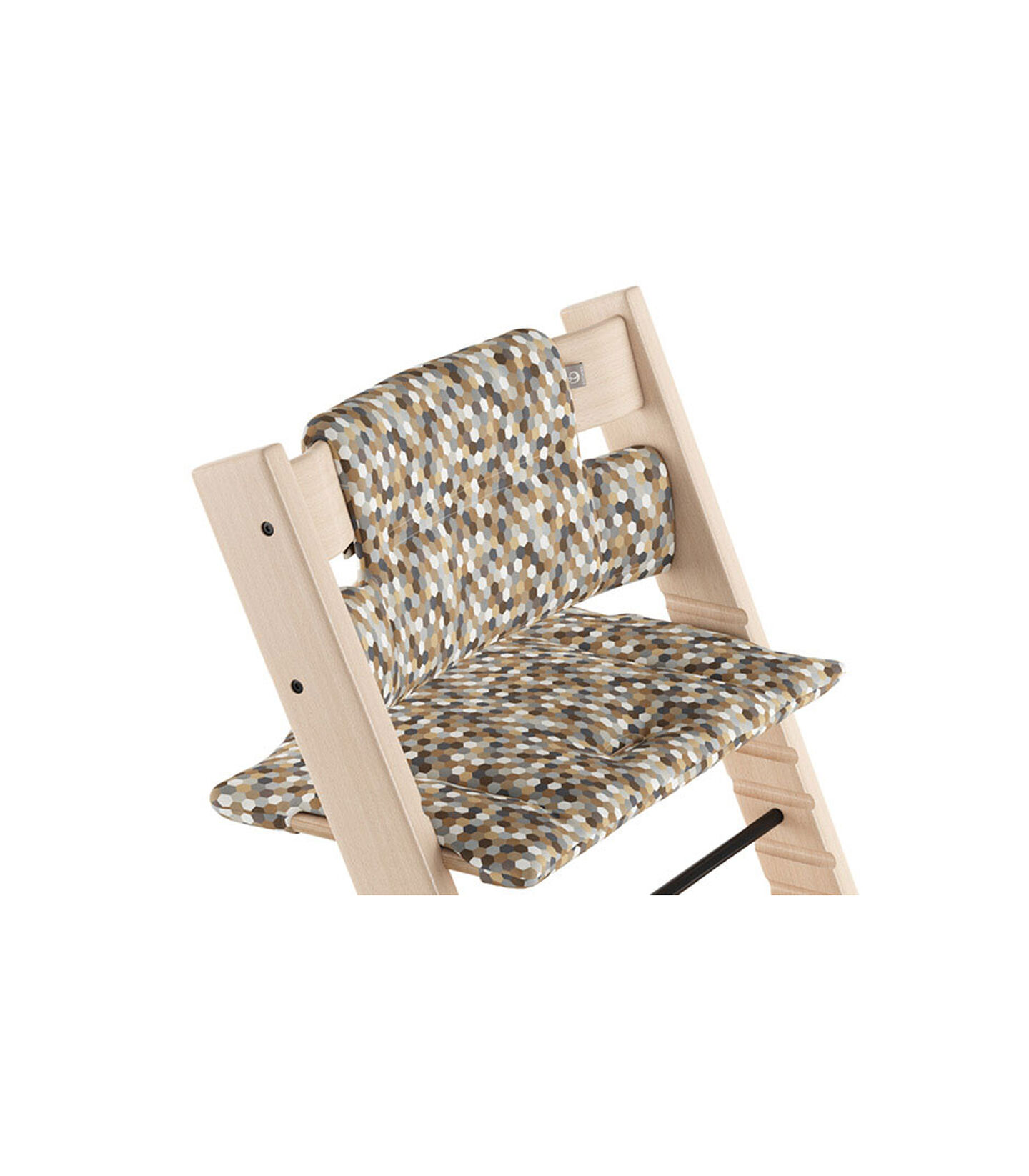 Tripp Trapp® Natural with Classic Cushion Honeycomb Calm.  view 1