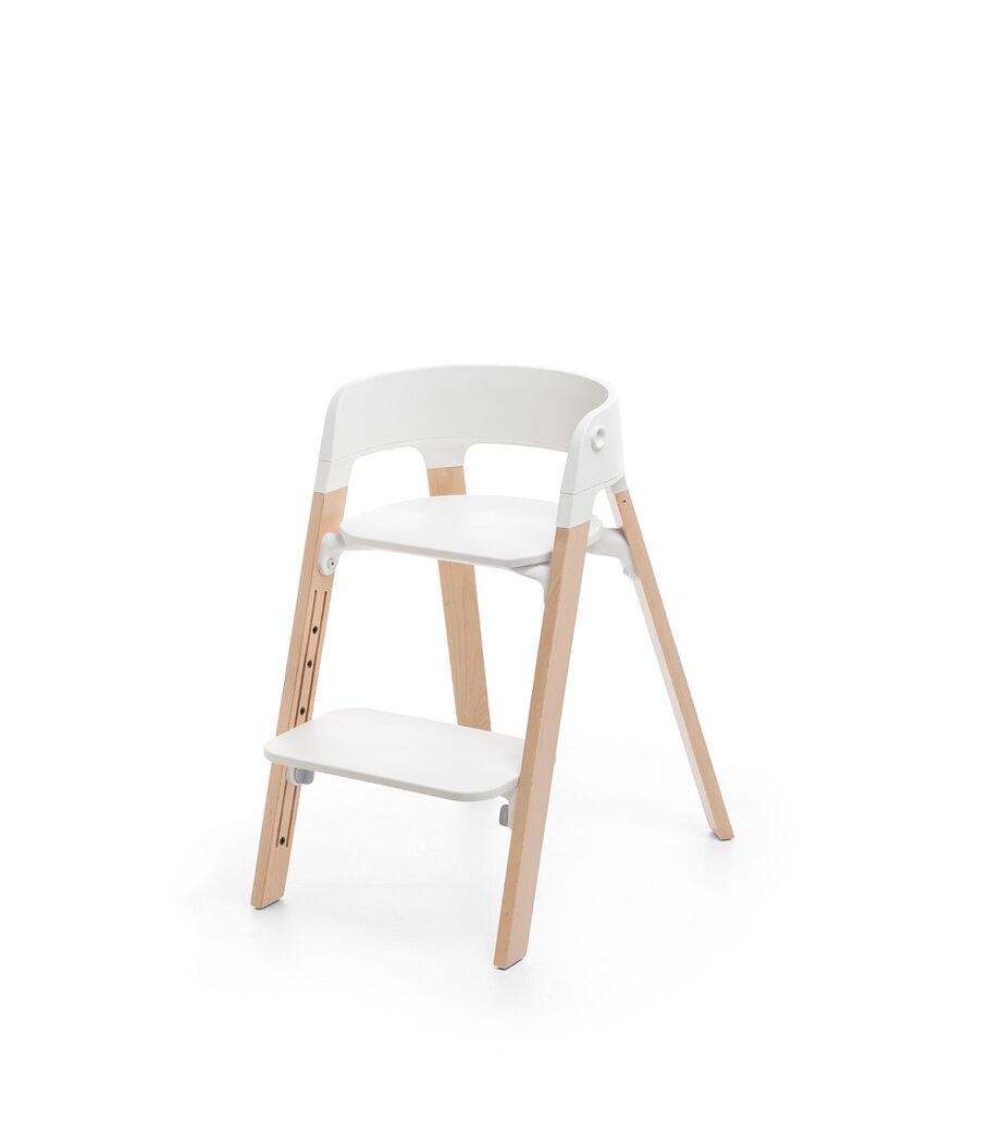 Stokke® Steps™ Stuhl, White/Natural, mainview view 1