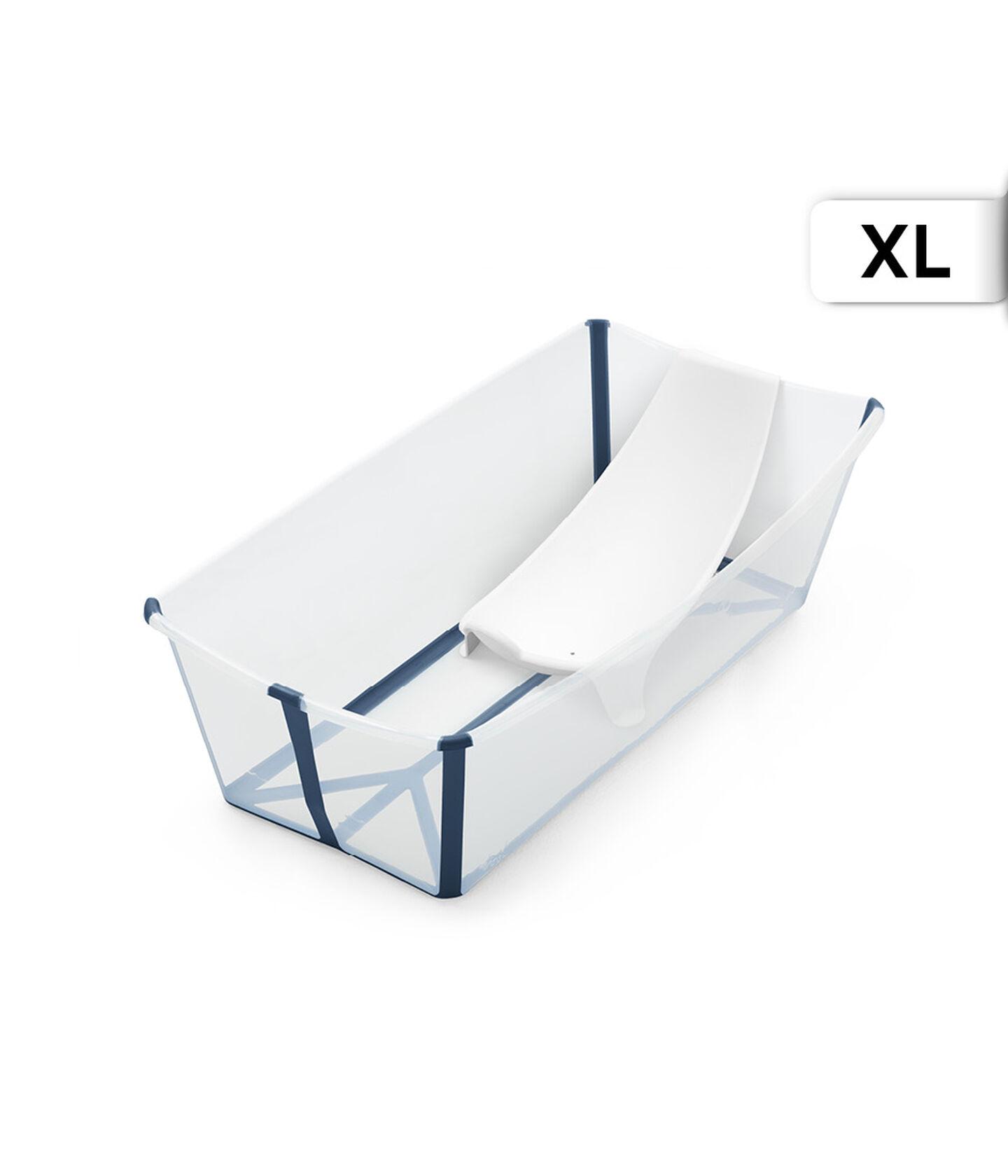 Stokke® Flexi Bath® X-Large Transparent Blue with Newborn Insert. view 5