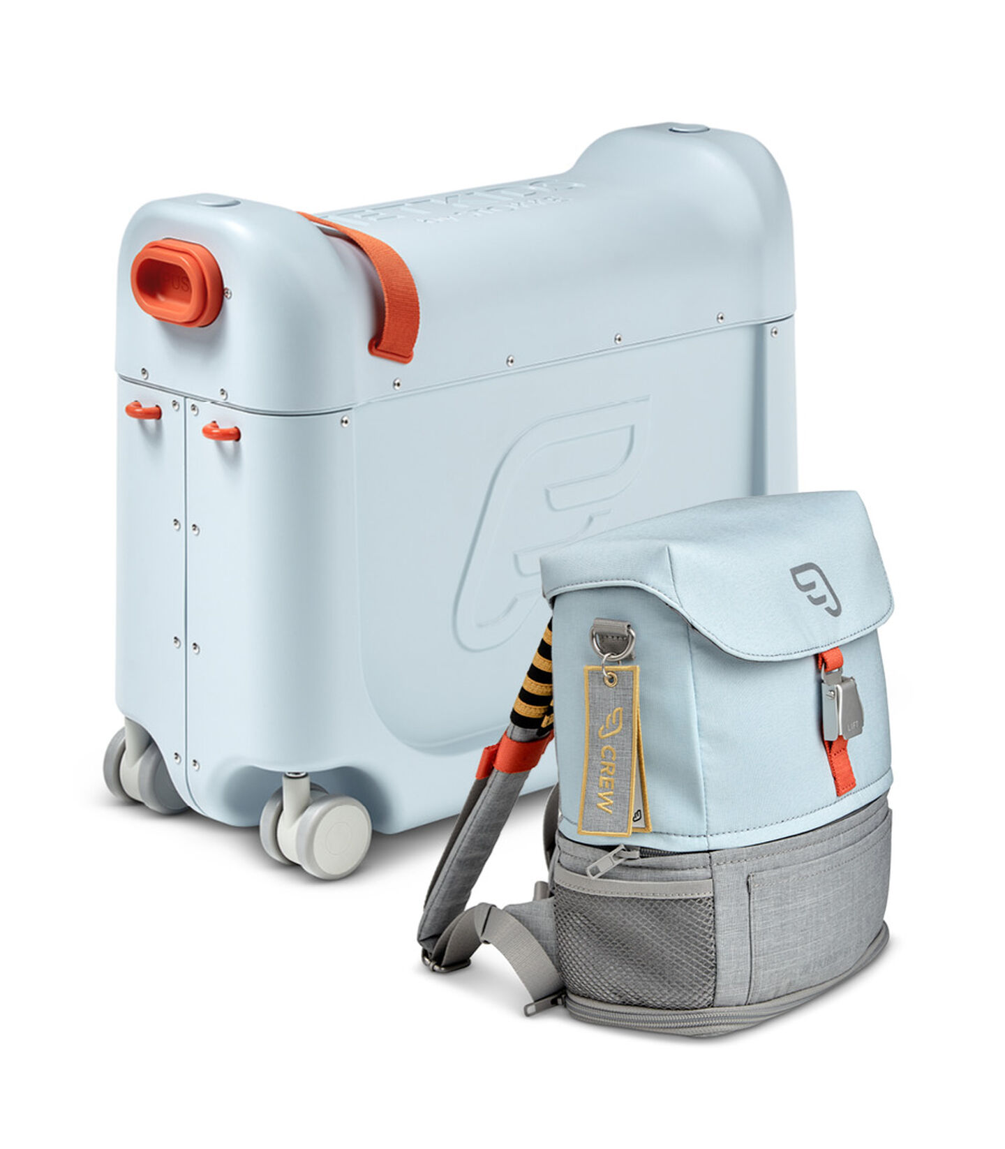 Комплект для путешествий BedBox™ + рюкзак пилота Crew BackPack™ Голубой/Голубой, Blue / Blue, mainview view 2