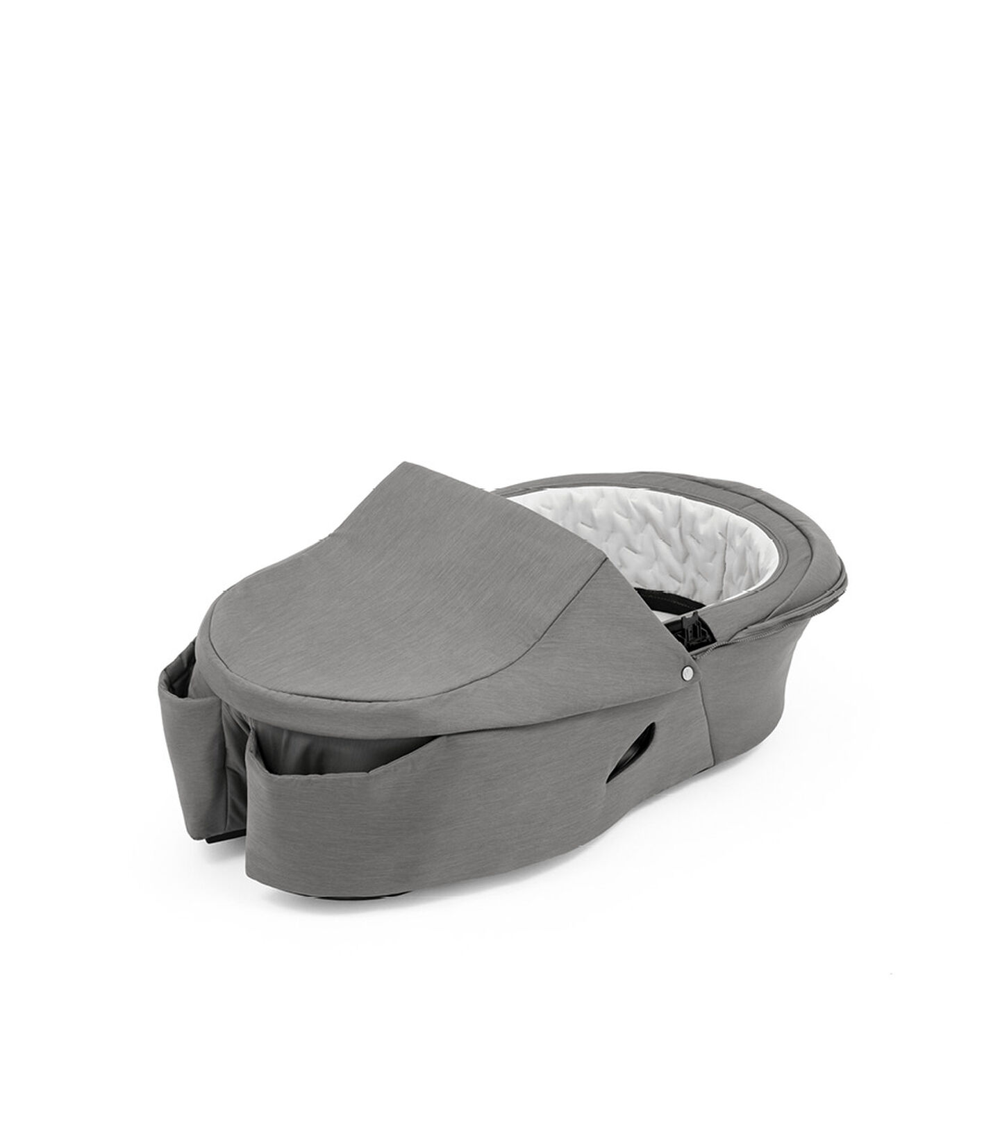 Stokke® Xplory® X Modern Grey Carry Cot, no canopy. view 1
