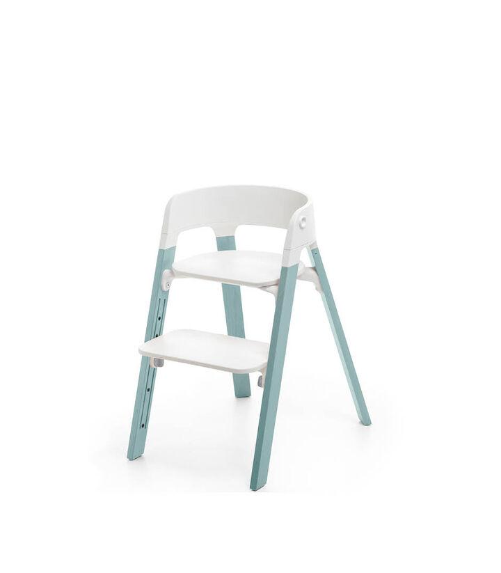 Stokke® Steps™ Chair, Aqua Blue, mainview view 1