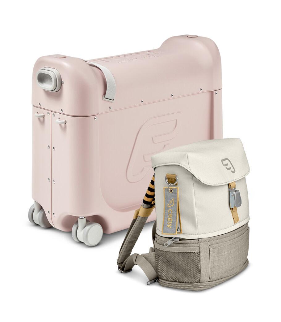 トラベラーズセット– ベッドボックス+クルーバックパック, Pink / White, mainview view 10