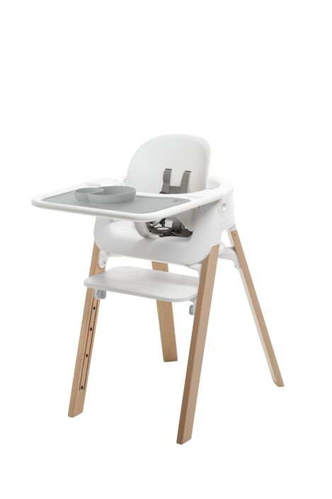 Accessories. Tray and Baby Set. Mounted on Stokke Steps highchair. view 5