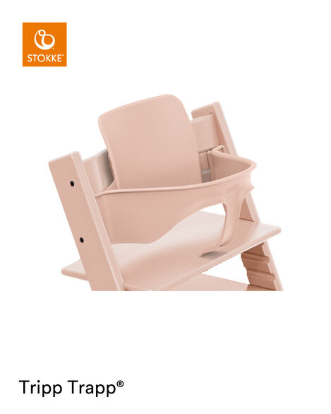 Tripp Trapp® Chair Serene Pink with Baby Set. Close-up. view 8