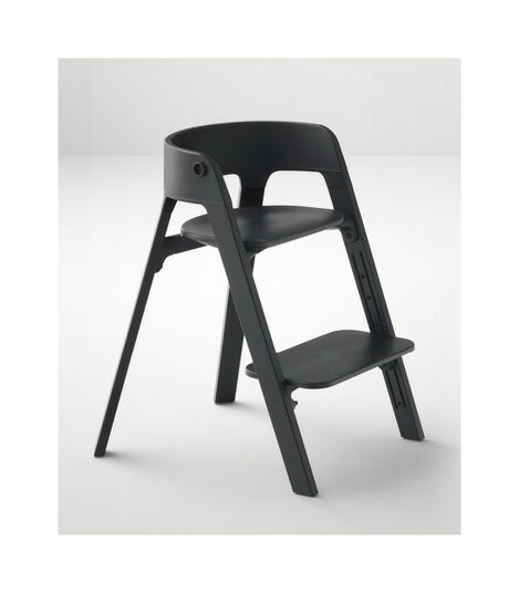 Stokke® Steps™ Beech Black wood legs and Black seat. view 7