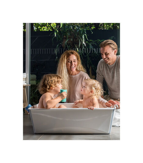Stokke® Flexi Bath ® Large White Aqua, Transparent bleu, mainview view 5